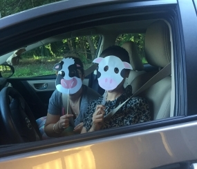 I wore a cow mask in front of lawyers, because that's just me.